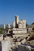 Ruins at archaeological site, Ephesus, Anatolia, Turkey, Asia Minor