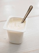 yogurt with spoon