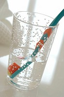Toothbrush in water