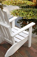 white deck chair