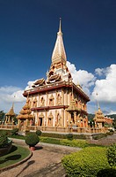 Wat Chalong temple, Phuket, Thailand, Southeast Asia, Asia