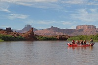 Rafting on the upper Colorado river near Moab Utah USA No MR