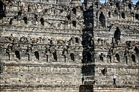 Sightseeing on the temple of Borobudur Java Indonesia