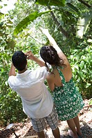 Couple in tropical forest
