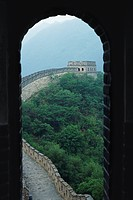 Great Wall of China, seen through arch