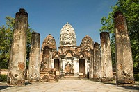 Pratu Na Mok temple is part of the heritage complex of Sukhothai in Thailand