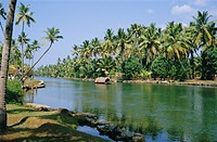 The backwaters at Chavara, Kerala State, India, Asia