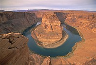 Muleshoe Bend, Colorado River, Glen Canyon, Arizona, USA, North America