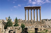 Roman Temple of Jupiter, Baalbek archaeological site, UNESCO World Heritage Site, Bekaa Valley, Lebanon, Middle East
