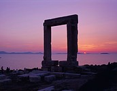 Greek Temple of Apollo, Naxos, Cyclades Islands, Greece, Europe