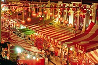 Stalls with lanterns, Chinatown, Singapore