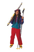 Girl with Cross_country Ski Gear