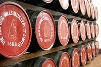Bushmills whiskey barrels