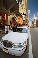 Madame Tussauds entrance with limo on street, Manhattan, New York City, USA