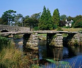 Clapper Bridge, Postbridge, Dartmoor, Devon, England, UK