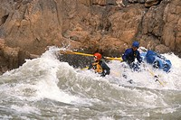 Whitewater rafters on Colorado River