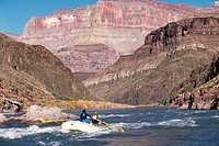 Whitewater rafters on Colorado River Grand Canyon National Park
