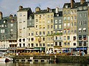 Around Vieux Bassin the old port, Honfleur, Basse Normandie Normandy, France, Europe