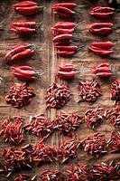 Chilies for sale, Alor Island, Alor, Indonesia, Southeast Asia, Asia