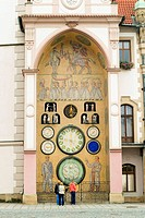 astronomical clock in communist style, Olomouc, Northern Moravia, Czech Republic