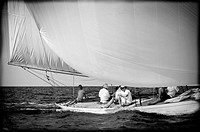 Classic sailboats race, Mediterranean Sea, Minorca, Balearic Islands, Spains