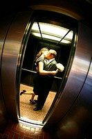 Couple in Elevator