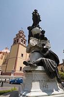 The 17th century Basilica de Nuestra Senora de Guanajuato in Guanajuato, a UNESCO World Heritage Site, Guanajuato State, Mexico, North America
