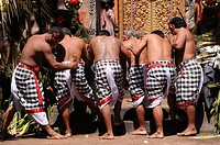 Performing The Kris Dance, Bali