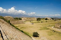 The ancient Zapotec city of Monte Alban, near Oaxaca City, Oaxaca, Mexico, North America