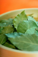 A dish with bay leaves