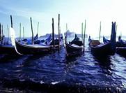 Gondolas, Venice, Veneto, Italy