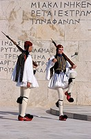 Evzons, Greek guards, Syndagma, Parliament, Athens, Greece, Europe