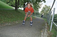 Blonde Boy rollerblading _ Leisure Time _ Parkway