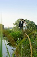 Bridal Couple at a Lake _ Idyll _ Harmony _ Wedding