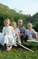 Your Children on a Lawn Seat _ Childhood _ Family Celebration _ Garden