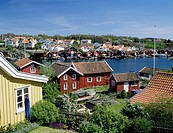 Fiskebäckskil, Bohuslän, Cottages Near Lake, Elevated View
