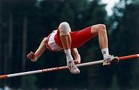 Kopia FOTO: Bengt Olof Olsson COPYRIGHT BILDHUSET, High Jumper, Low Angle View