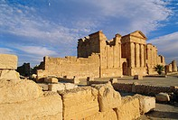 The Roman city of Sbeitla, the Capitol and the Three Temples of Jupiter, Minerva and Juno, Tunisia, North Africa