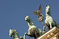 Statues, Brandenburg Gate, Berlin, Germany