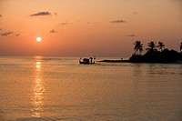 Sunset, Maldives, Indian Ocean, Asia