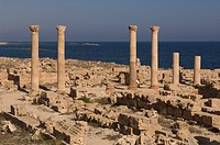 sabratha roman site, tripolitania, libya, africa