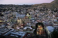 View over the city, Guanajuato, UNESCO World Heritage Site, Mexico, North America