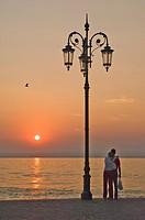 Sunset, Lazise, Lake Garda, Veneto, Italian Lakes, Italy, Europe