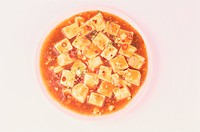 Plate Of Sauce With Tofu (thumbnail)