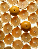Halved Grapefruits