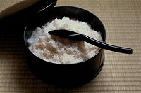 Cooked Rice With Scoop