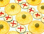 Sliced Oranges And Limes