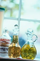 Jugs Of Herb Olive Oil