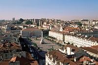 Rossio Square Dom Pedro IV Square, Lisbon, Portugal, Europe