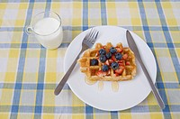 Waffle on Table (thumbnail)